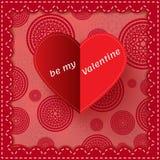 Tarjeta del día de tarjetas del día de San Valentín del corazón del Libro Blanco con la muestra stock de ilustración