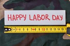 Tarjeta del día de trabajo en camuflaje imagen de archivo libre de regalías