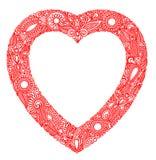 Tarjeta del día de Valentin con el corazón Imágenes de archivo libres de regalías