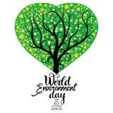 Tarjeta del día del ambiente mundial libre illustration