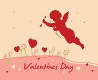 Tarjeta del día del `s de la tarjeta del día de San Valentín Imagen de archivo