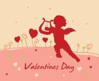 Tarjeta del día del `s de la tarjeta del día de San Valentín Fotografía de archivo
