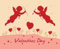 Tarjeta del día del `s de la tarjeta del día de San Valentín Foto de archivo