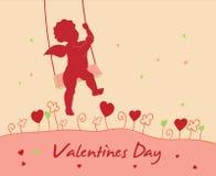 Tarjeta del día del `s de la tarjeta del día de San Valentín Fotos de archivo