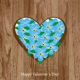 Tarjeta del día del `s de la tarjeta del día de San Valentín Imagen de archivo libre de regalías