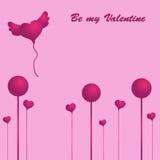 Tarjeta del día del `s de la tarjeta del día de San Valentín Fotos de archivo libres de regalías