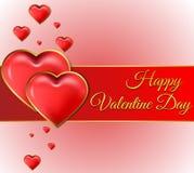 Tarjeta del día del ` s de la tarjeta del día de San Valentín con las letras del oro Fotos de archivo