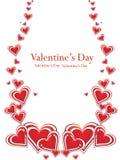 Tarjeta del día del `s de Valentin Foto de archivo libre de regalías