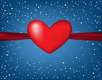 Tarjeta del día del ` s de Valentin, Fotos de archivo