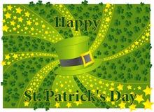 Tarjeta del día del St. Patrick Imagenes de archivo