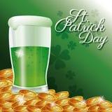 Tarjeta del día del St Patrick ilustración del vector