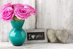 Tarjeta del día de San Valentín, día Imagen de archivo libre de regalías