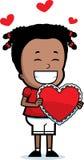 Tarjeta del día de San Valentín de la muchacha Fotos de archivo libres de regalías