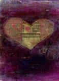 Tarjeta del día de San Valentín de la yoga Imagen de archivo libre de regalías
