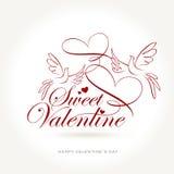 Tarjeta del día de San Valentín dulce Imagen de archivo libre de regalías