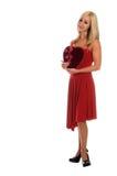 Tarjeta del día de San Valentín rubia Fotografía de archivo libre de regalías