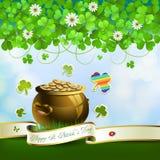 Tarjeta del día de St Patrick Fotografía de archivo