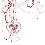 Tarjeta del día de tarjeta del día de San Valentín Foto de archivo