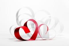 Tarjeta del día de tarjetas del día de San Valentín Imágenes de archivo libres de regalías