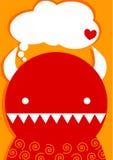 Tarjeta del día de tarjetas del día de San Valentín de diablo rojo Fotos de archivo