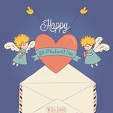 Tarjeta del día de tarjetas del día de San Valentín del St Foto de archivo libre de regalías