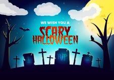 Tarjeta del deseo de Halloween stock de ilustración
