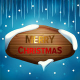 Tarjeta del deseo de la Feliz Navidad ilustración del vector