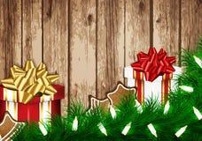 Tarjeta del deseo de la Navidad Fotos de archivo