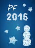 Tarjeta 2016 del deseo del PF Fotos de archivo libres de regalías