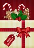 Tarjeta del deseo del vector de la Navidad ilustración del vector