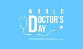 Tarjeta del diseño del día del doctor de la celebración libre illustration