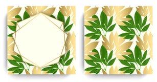 Tarjeta del diseño floral del vector Imagenes de archivo