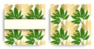 Tarjeta del diseño floral del vector Fotos de archivo