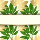 Tarjeta del diseño floral del vector Imagen de archivo