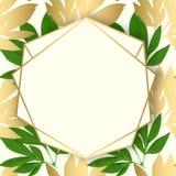 Tarjeta del diseño floral del vector Foto de archivo