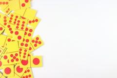 Tarjeta del dominó fotografía de archivo libre de regalías