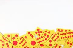 Tarjeta del dominó foto de archivo