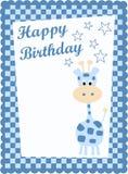 Tarjeta del feliz cumpleaños Foto de archivo libre de regalías