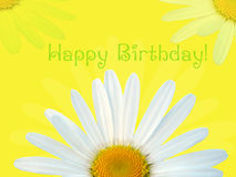 Tarjeta del feliz cumpleaños Imagen de archivo libre de regalías