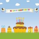 Tarjeta del feliz cumpleaños stock de ilustración