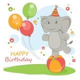 Tarjeta del feliz cumpleaños. Foto de archivo libre de regalías
