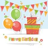 Tarjeta del feliz cumpleaños Fotografía de archivo