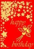 Tarjeta del feliz cumpleaños imágenes de archivo libres de regalías