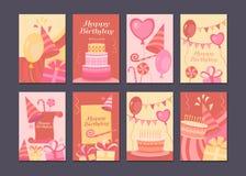 Tarjeta del feliz cumpleaños Foto de archivo