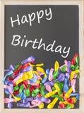 Tarjeta del feliz cumpleaños Fotos de archivo