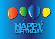 Tarjeta del feliz cumpleaños con el globo libre illustration