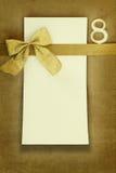 Tarjeta del feliz cumpleaños con el número ocho Imagen de archivo