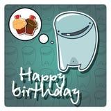 Tarjeta del feliz cumpleaños del monstruo Imagenes de archivo