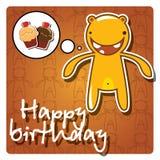 Tarjeta del feliz cumpleaños del monstruo Imagen de archivo libre de regalías