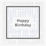 Tarjeta del feliz cumpleaños, diseño minimalista Fotos de archivo